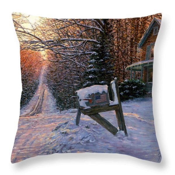 Long Way From Home Throw Pillow by Doug Kreuger