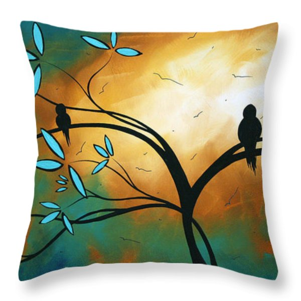 Longing By Madart Throw Pillow by Megan Duncanson