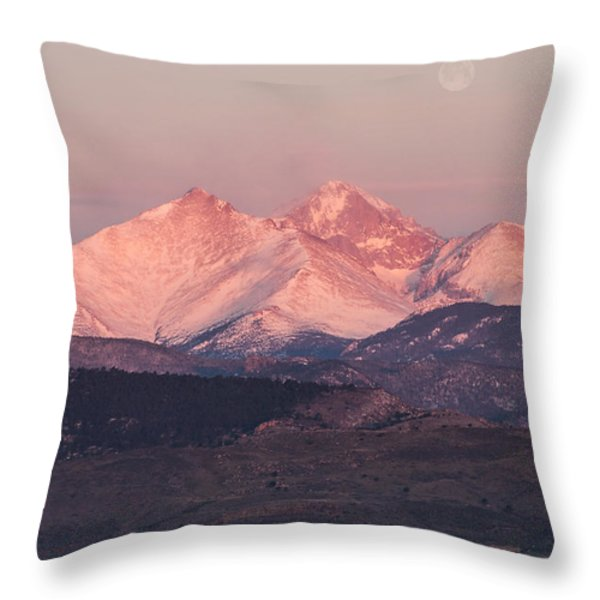 Longs Peak 4 Throw Pillow by Aaron Spong