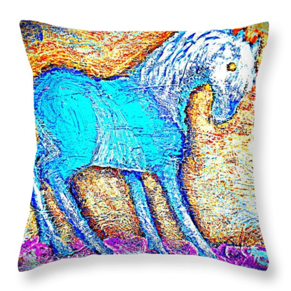 Look At Me Throw Pillow by Hilde Widerberg