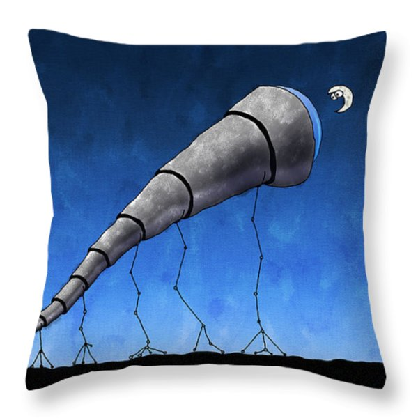 Look at Me Moon Throw Pillow by Gianfranco Weiss