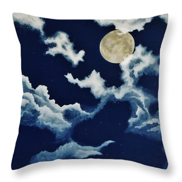 Look at the Moon Throw Pillow by Katherine Young-Beck