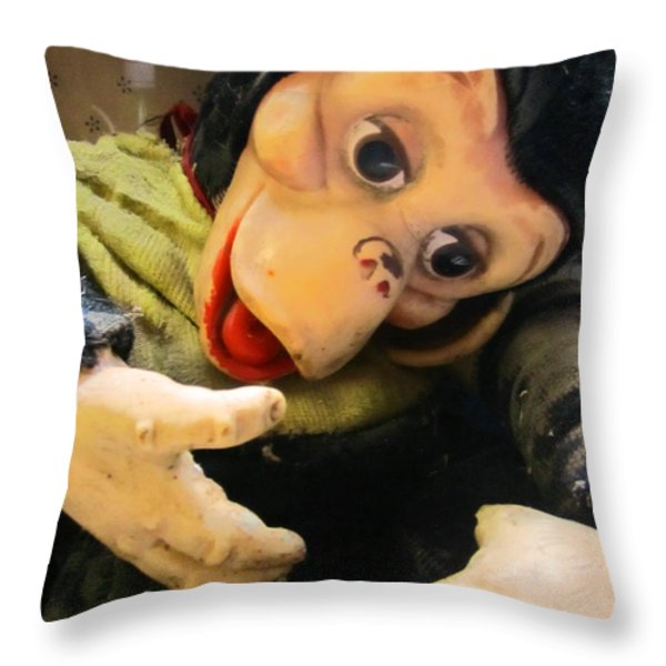 Look Ma No Thumbs Throw Pillow by Kym Backland