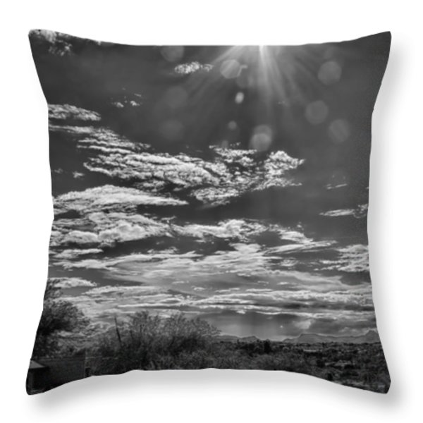 Look To The Western Sky Throw Pillow by Judi FitzPatrick