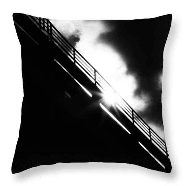 Looking At The Sun Throw Pillow by Bob Orsillo