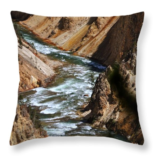 Looking Down Throw Pillow by Marty Koch