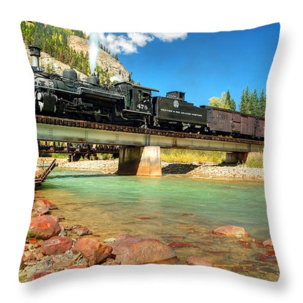 Looking Up From The Riverbed Throw Pillow by Ken Smith