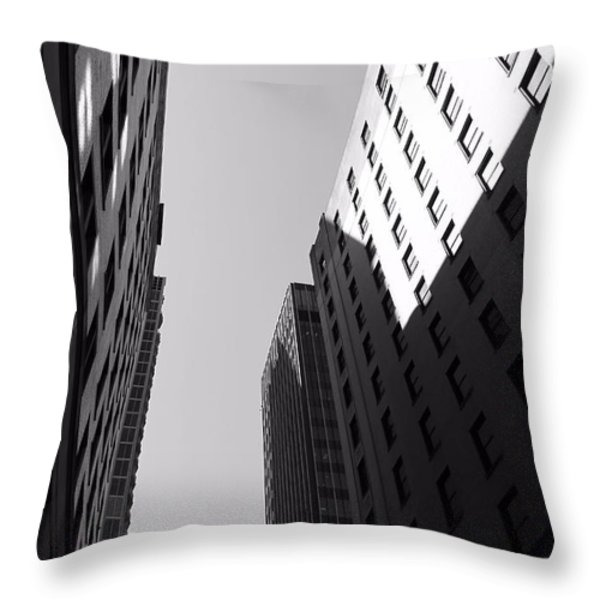 Looking Up In Nashville Black And White Throw Pillow by Dan Sproul