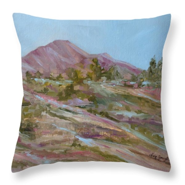 Looking Up the Hill Throw Pillow by Jo Anne Neely Gomez