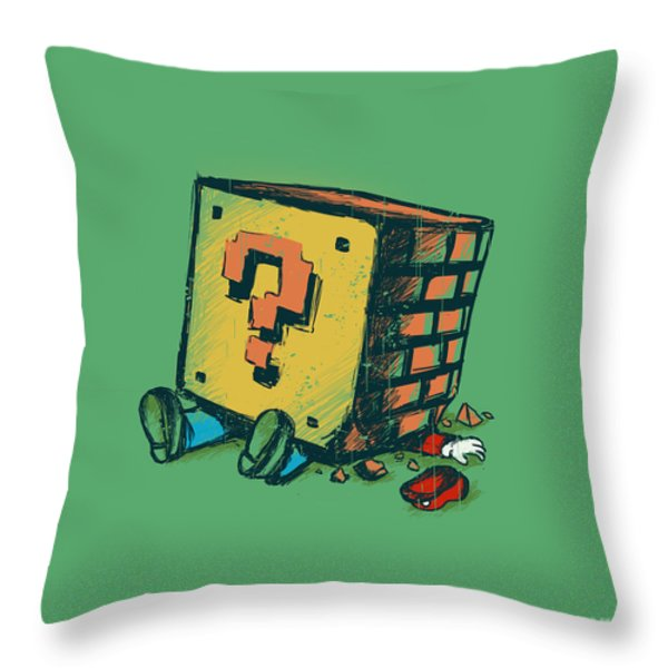 Loose Brick Throw Pillow by Budi Kwan