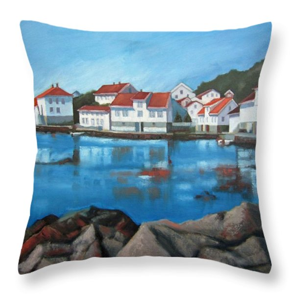 Loshavn Throw Pillow by Janet King