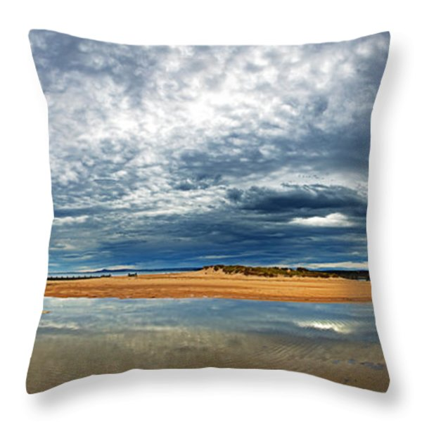 Lossiemouth pano Throw Pillow by Jane Rix