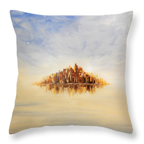 Lost City Throw Pillow by Lilia D