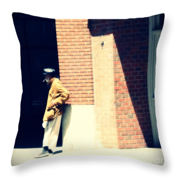 Lost In A World He Doesn't Know Throw Pillow by Dan Stone