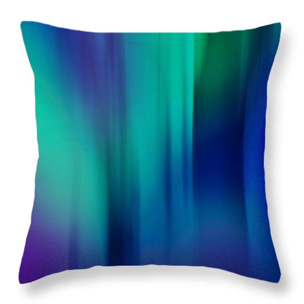 Lost In The Enchanting Forest  1 Throw Pillow by Jenny Rainbow