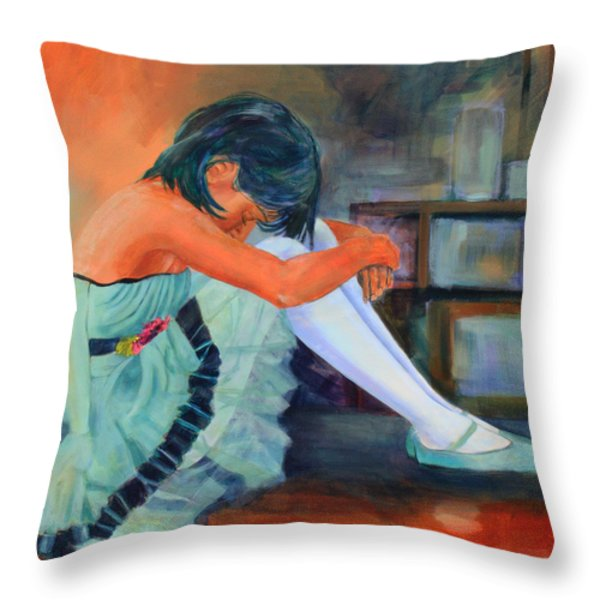 Lost In Thought Throw Pillow by Sue  Darius
