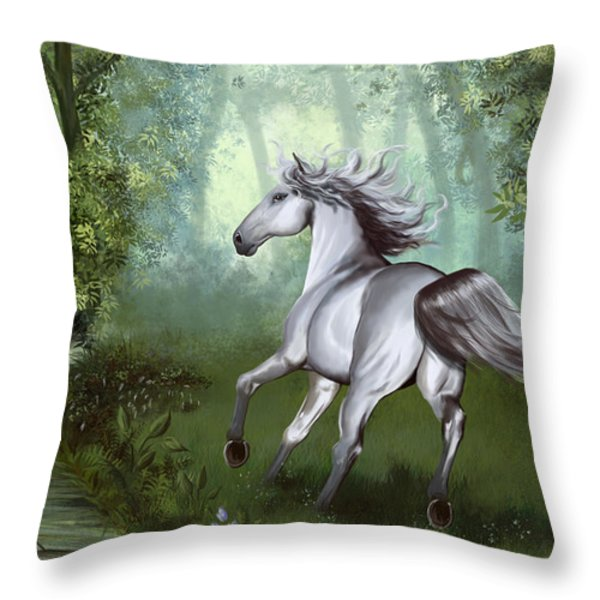 Lost In The Forest Throw Pillow by Kate Black