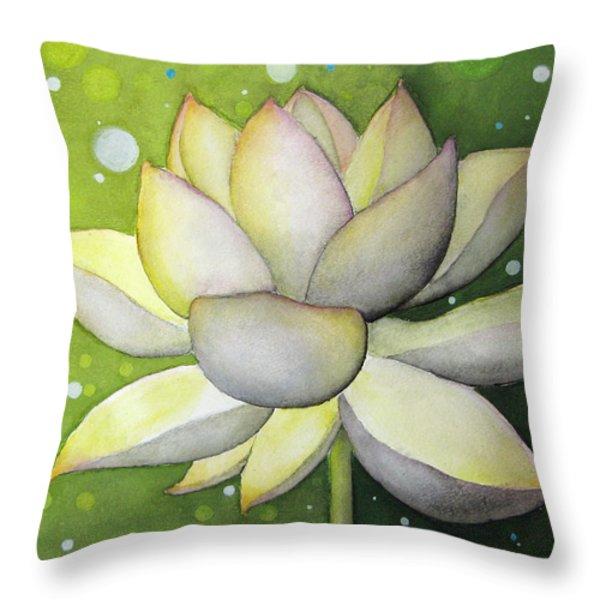 Lotus Dream Throw Pillow by Oiyee  At Oystudio