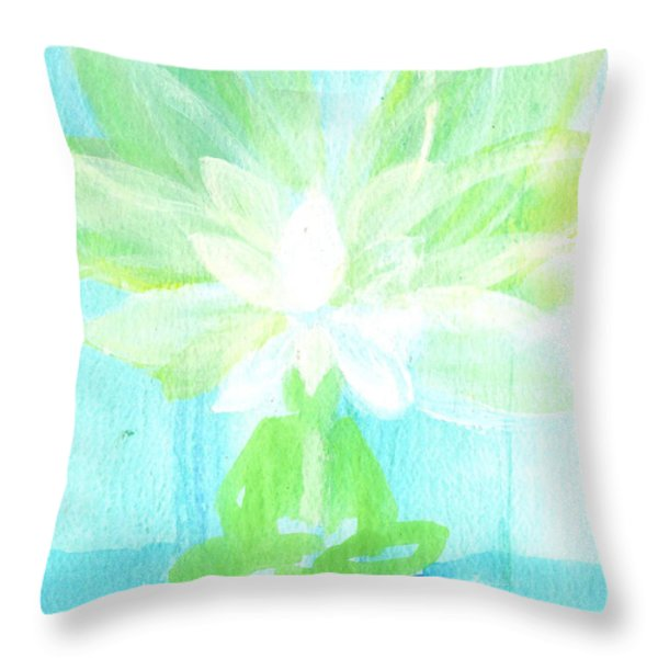 Lotus Petals Awakening Spirit Throw Pillow by Ashleigh Dyan Bayer