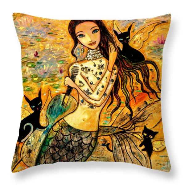 Lotus Pool Throw Pillow by Shijun Munns