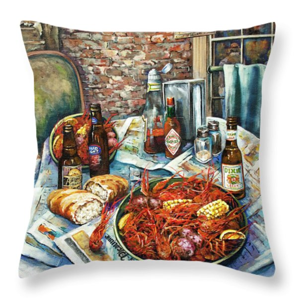 Louisiana Saturday Night Throw Pillow by Dianne Parks