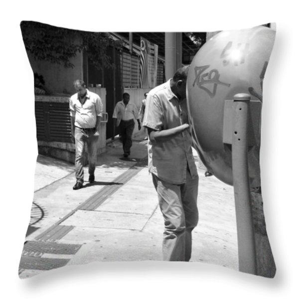 Lounging Around Throw Pillow by Julie Niemela