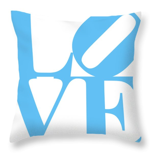 LOVE 20130707 Blue White Throw Pillow by Wingsdomain Art and Photography