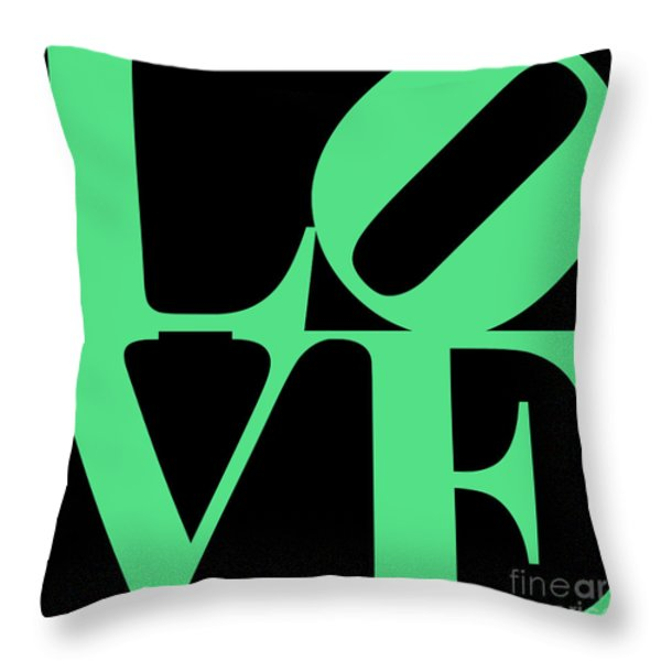 LOVE 20130707 Green Black Throw Pillow by Wingsdomain Art and Photography