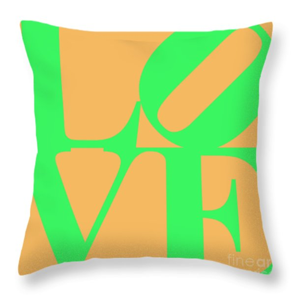 Love 20130707 Green Orange Throw Pillow by Wingsdomain Art and Photography