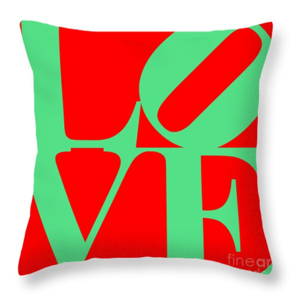 Love 20130707 Green Red Throw Pillow by Wingsdomain Art and Photography