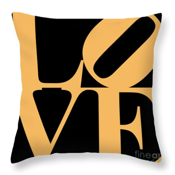 Love 20130707 Orange Black Throw Pillow by Wingsdomain Art and Photography