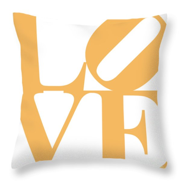 Love 20130707 Orange White Throw Pillow by Wingsdomain Art and Photography