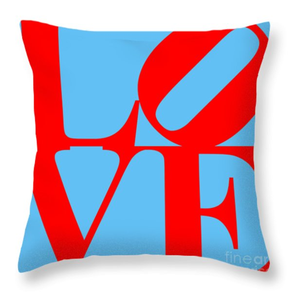 LOVE 20130707 Red Blue Throw Pillow by Wingsdomain Art and Photography