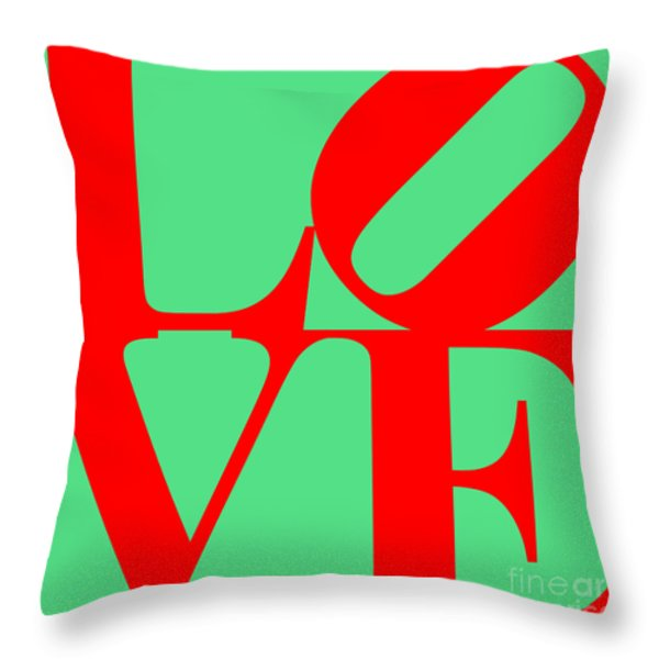 LOVE 20130707 Red Green Throw Pillow by Wingsdomain Art and Photography