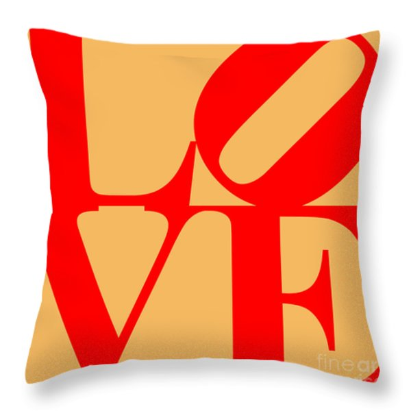 LOVE 20130707 Red Orange Throw Pillow by Wingsdomain Art and Photography