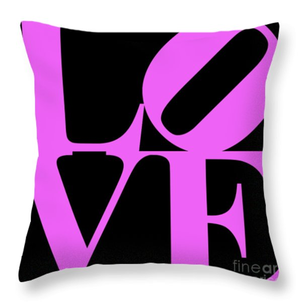 Love 20130707 Violet Black Throw Pillow by Wingsdomain Art and Photography