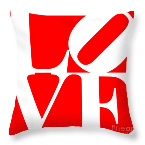 Love 20130707 White Red Throw Pillow by Wingsdomain Art and Photography