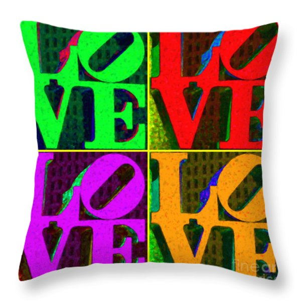 Love 4 Philadelphia - Painterly V4 Throw Pillow by Wingsdomain Art and Photography
