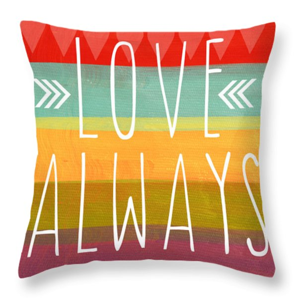 Love Always Throw Pillow by Linda Woods