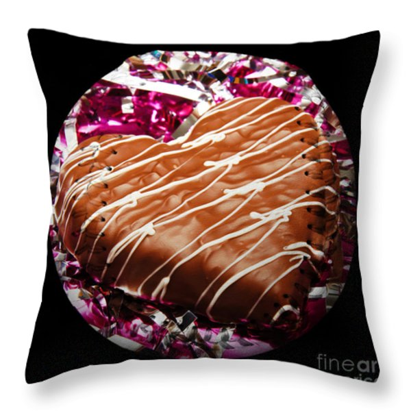 Love Baseball Square Throw Pillow by Andee Design