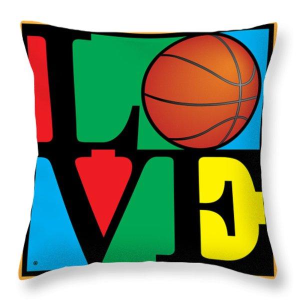 Love Basketball Throw Pillow by Gary Grayson
