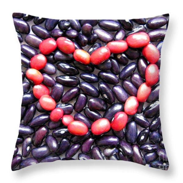 Love Beans #01 Throw Pillow by Ausra Paulauskaite