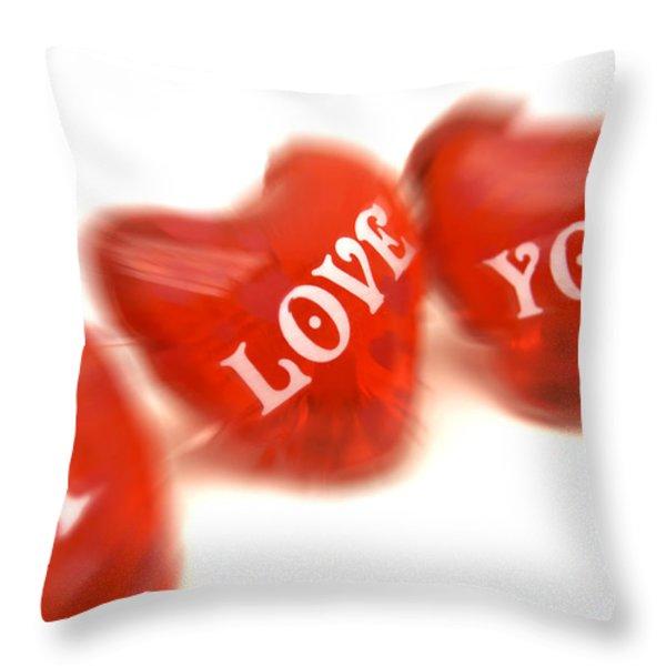 Love Throw Pillow by BERNARD JAUBERT