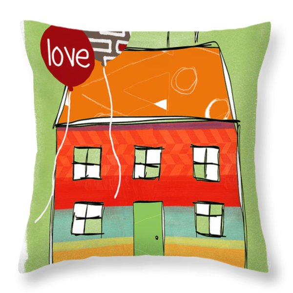 Love Card Throw Pillow by Linda Woods