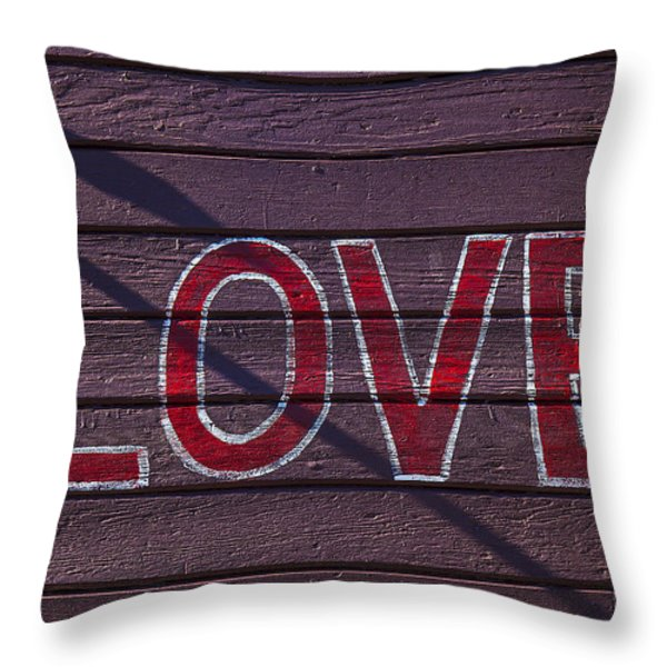 Love Throw Pillow by Garry Gay