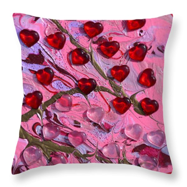 Love Grows Throw Pillow by Donna Blackhall