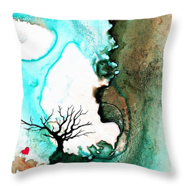 Love Has No Fear - Art By Sharon Cummings Throw Pillow by Sharon Cummings