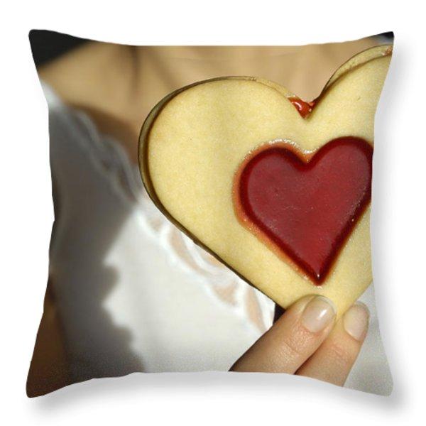 Love Heart Valentine Throw Pillow by Matthias Hauser