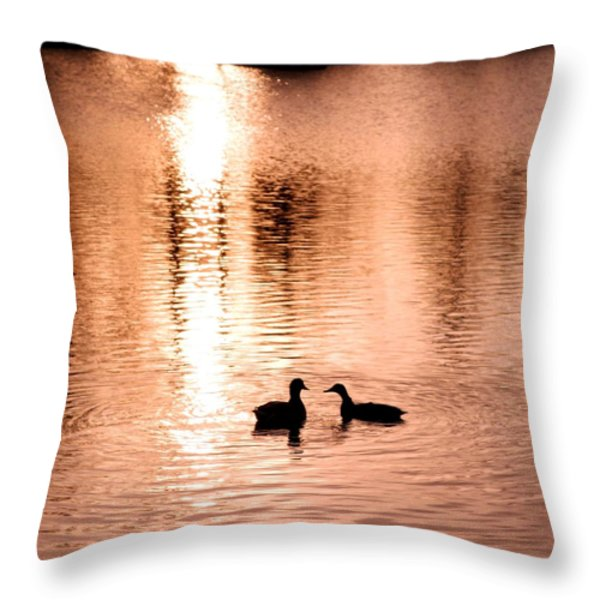 love in water Throw Pillow by Hilde Widerberg