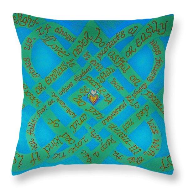 Love Is Blue Throw Pillow by Hidden  Mountain